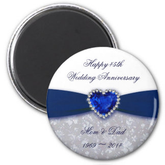 Damask 45th Wedding Anniversary Magnet