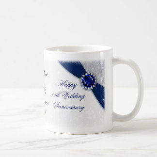 Damask 45th Wedding Anniversary Mug