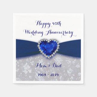 Damask 45th Wedding Anniversary Paper Napkin