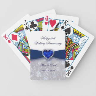 Damask 45th Wedding Anniversary Playing Cards