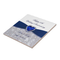 Damask 45th Wedding Anniversary Tile