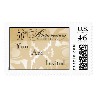 Damask 50th Anniversary Party Postage