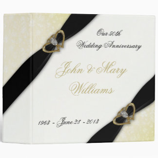Damask 50th Wedding Anniversary Binder