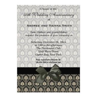 Damask 50th Wedding Anniversary Personalized Invitation