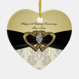 Damask 50th Wedding Anniversary Ornament