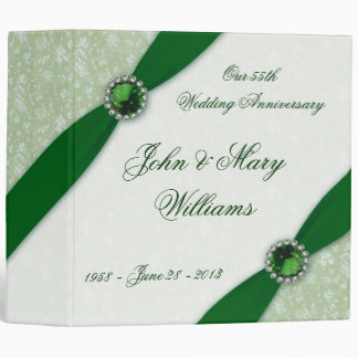 Damask 55th Wedding Anniversary Binder
