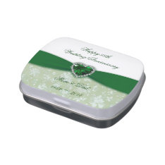 Damask 55th Wedding Anniversary Candy Tin at Zazzle
