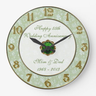 Damask 55th Wedding Anniversary Clock