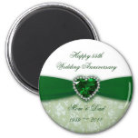 Damask 55th Wedding Anniversary Fridge Magnets