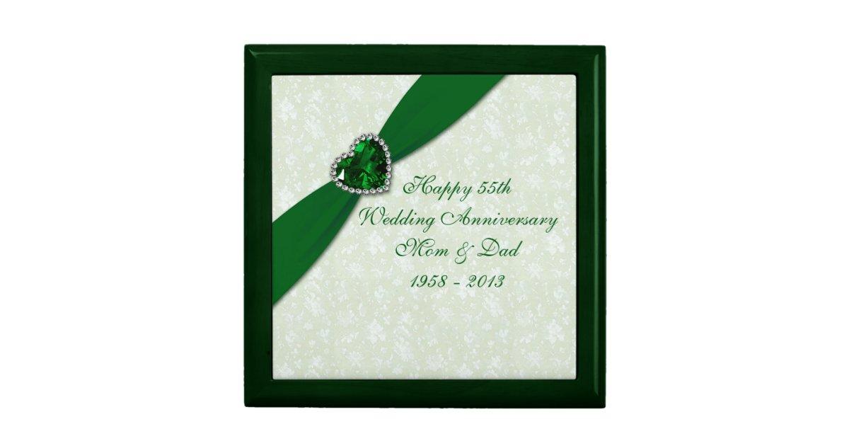 Wedding Anniversary Gift Box : Damask 55th Wedding Anniversary Gift Box Zazzle