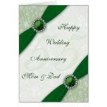 Damask 55th Wedding Anniversary Greeting Card