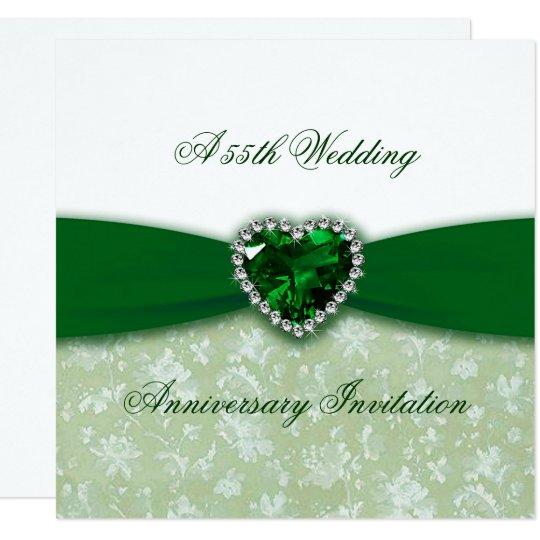Damask 55th Wedding Anniversary Invitation Zazzle Com