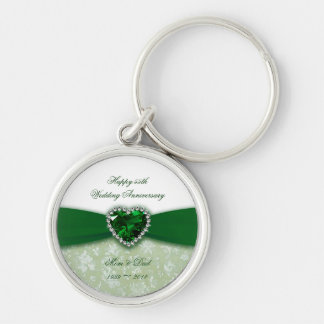 Damask 55th Wedding Anniversary Key Chain