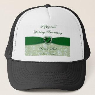 Damask 55th Wedding Anniversary Trucker Hat