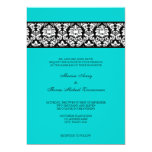 Damask 5x7 Paper Invitation Card