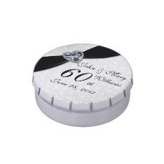 Damask 60th Wedding Anniversary Candy Tin at Zazzle
