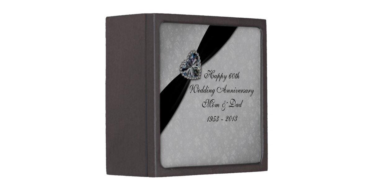 Wedding Anniversary Gift Box : Damask 60th Wedding Anniversary Gift Box Zazzle