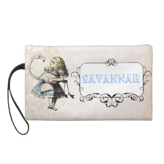 Damask Alice and Wonderland personalized Clutch Wristlet Clutch