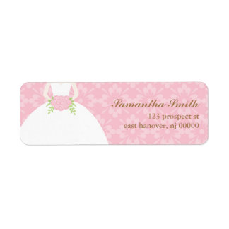 Damask and Floral Return Address Labels