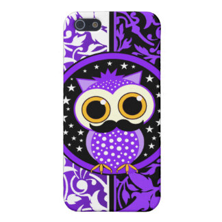 damask and mustache owl cover for iPhone SE/5/5s