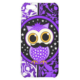 damask and mustache owl iPhone 5C covers