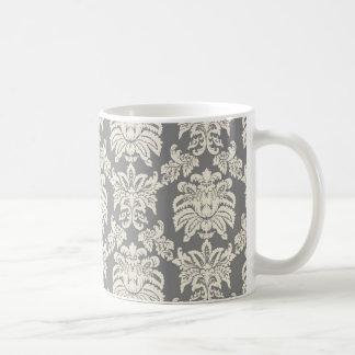 Damask - antique grey mugs