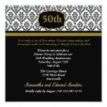 "Damask Any Age Invitation 5.25"" Square Invitation Card"