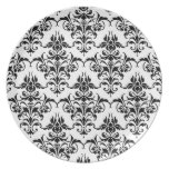 Damask-Any Color Party Plate
