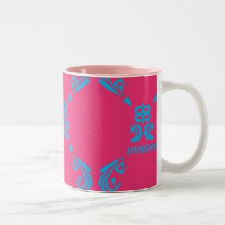 Damask Aqua-Magenta Mugs
