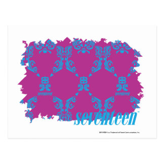 Damask Aqua-Purple 2 Postcard
