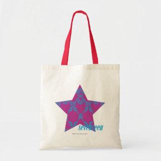 Damask Aqua-Purple 3 Tote Bag