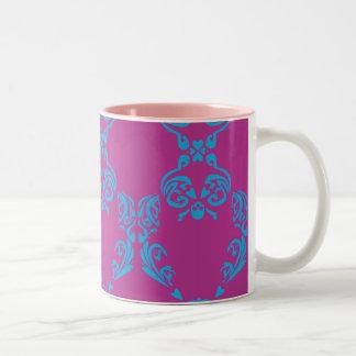 Damask Aqua-Purple Coffee Mug