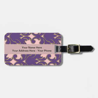 Damask Art Baggage Tags Tag For Luggage