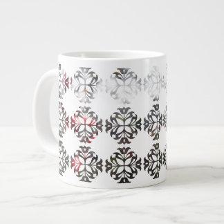 Damask Autumn Red Berries Giant Coffee Mug