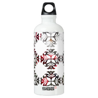 Damask Autumn Red Berries Water Bottle