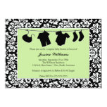 Damask Baby Shower 5x7 Paper Invitation Card