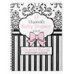 Damask Baby Shower Guest Book- Notebooks