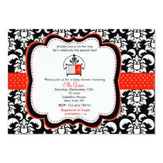 Damask Baby Shower Invitations Monograme