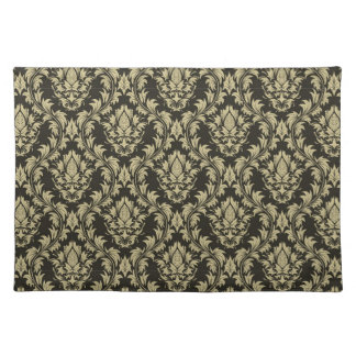 Damask background placemat