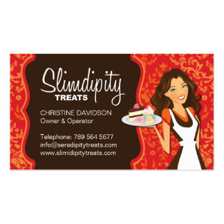 Damask Bakery Business Card