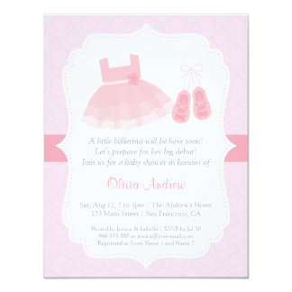 ballerina baby shower invitations announcements zazzle