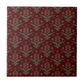 Damask Baroque Ceramic Tile