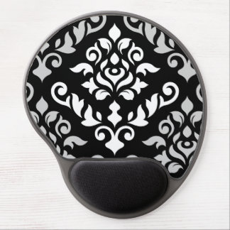 Damask Baroque Design Monochrome Gel Mouse Pad