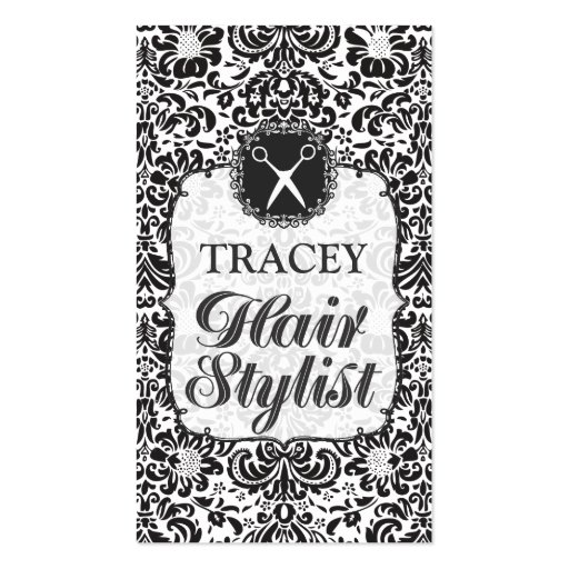 Damask Baroque Hair Stylist Appointment Cards Business Card Templates