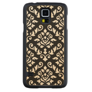 Damask Baroque Large Pattern Black Surround Carved® Maple Galaxy S5 Case