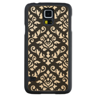 Damask Baroque Large Pattern Black Surround Carved® Maple Galaxy S5 Slim Case