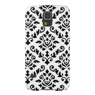 Damask Baroque Pattern Black on White Galaxy S5 Cover