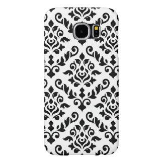 Damask Baroque Pattern Black on White Samsung Galaxy S6 Case