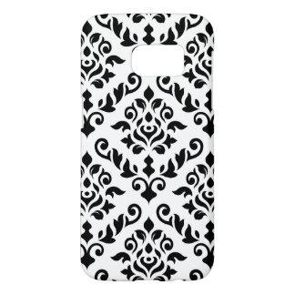 Damask Baroque Pattern Black on White Samsung Galaxy S7 Case