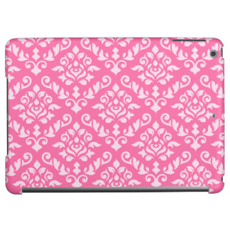 Damask Baroque Pattern Light on Dark Pink (h) iPad Air Cases
